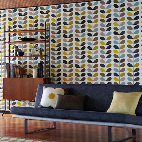 Behang Orla Kiely Multi Stem Hibiscus Living Lounge