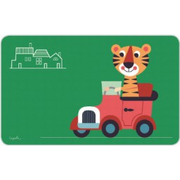 Broodplankje/Snijplankje - Kids - Tiger Car