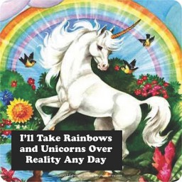 Onderzetter - I'll take rainbows and unicorns