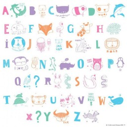 Lightbox Letter set - Kids ABC Illustration pack - Pastel