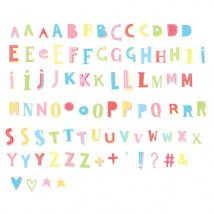 Lightbox Letter set - Funky Colour - Pastel letters