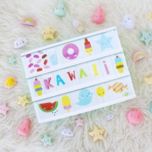 Lightbox Symbolenset - Kawaii pastel
