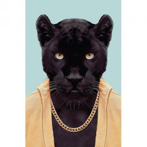 Postkaart - Animal Portraits - Panter