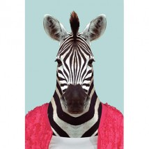 Postkaart - Animal Portraits - Zebra