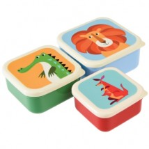 Snackdoosjes - Colourful Creatures dieren - set van 3