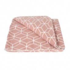 Fleece deken - Hexagon - roze