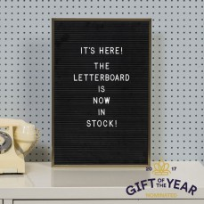 Letterbord zwart - incl. 286 letters